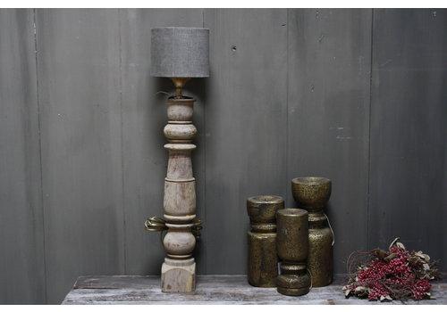 Aura peeperkorn oud houten baluster lamp