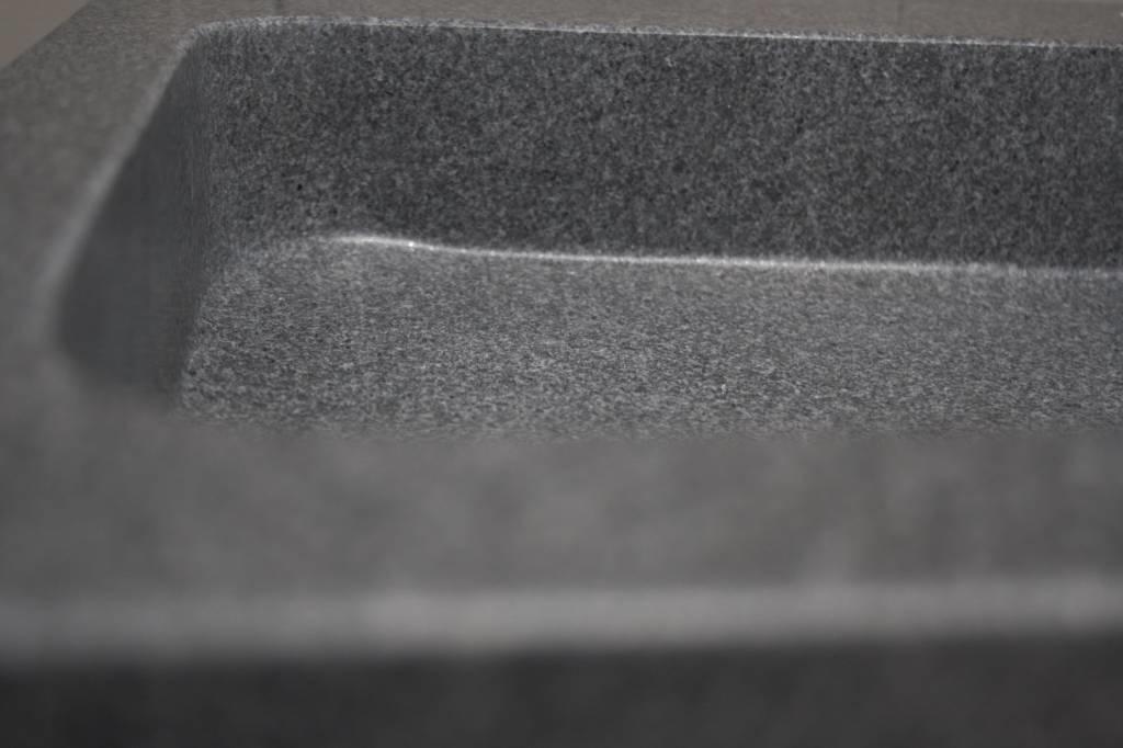 Granieten wastafel 140 cm met 2 kraangaten-8