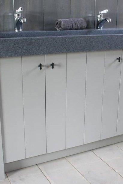 Granieten wastafel 140 cm met 2 kraangaten