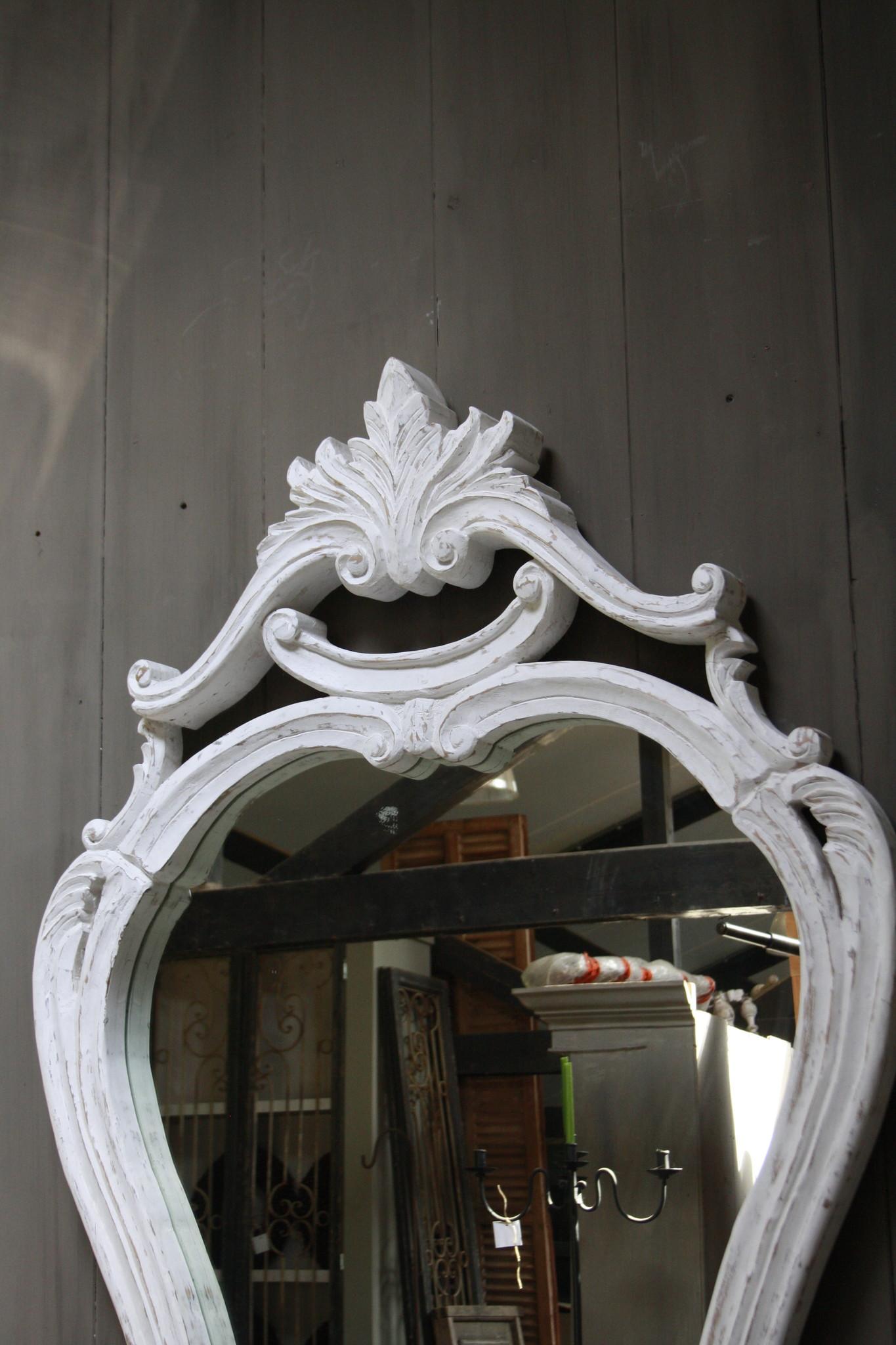 Garcia Sierspiegel  wit hout met kuif 180 cm-2