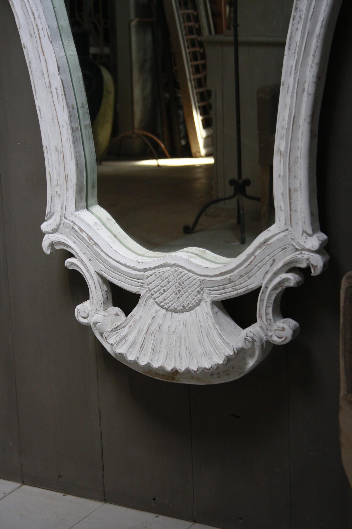 Garcia Sierspiegel  wit hout met kuif 180 cm-3
