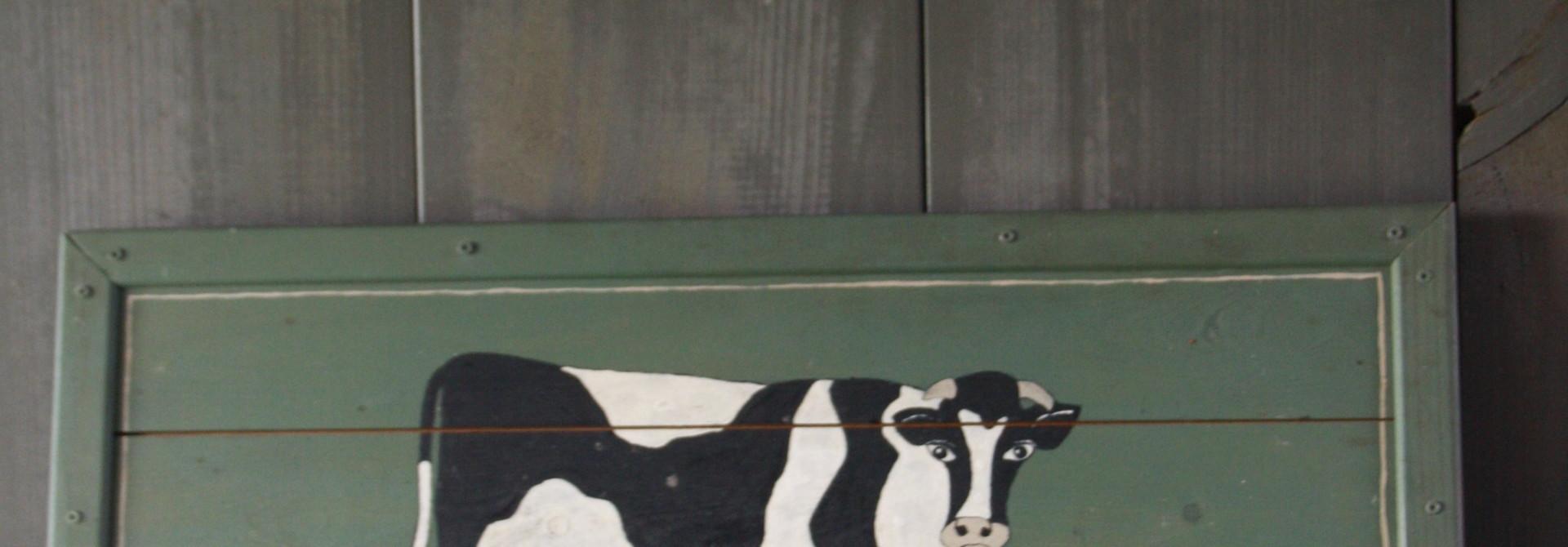 Zwart Bont Hout Geschilderd 61 cm
