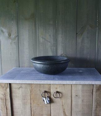Ronde waskom graniet 40 x 15 cm