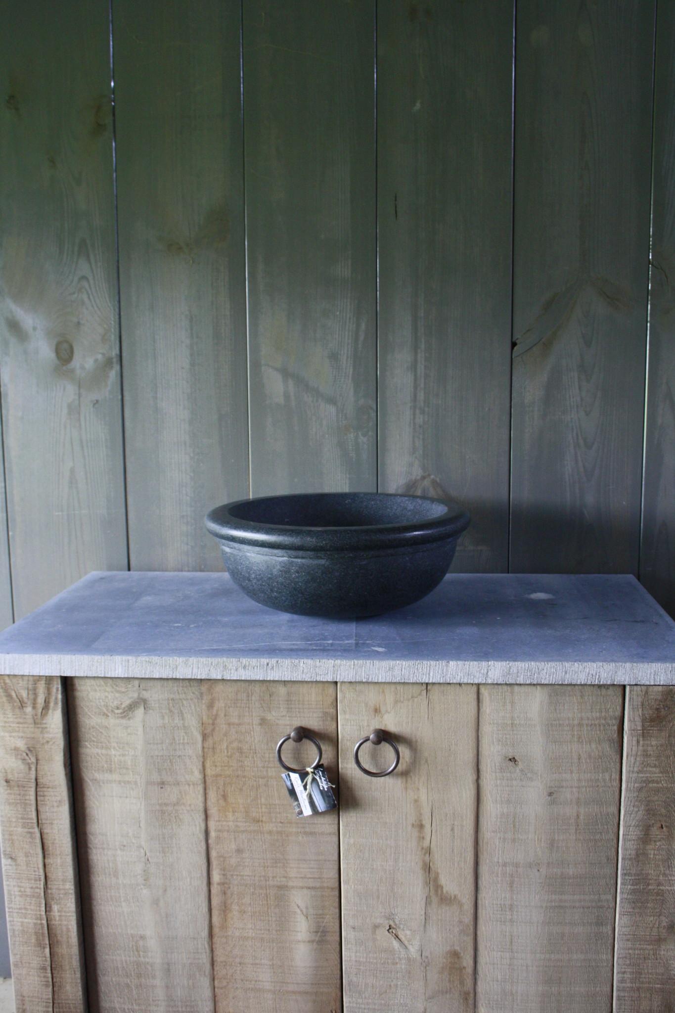 Ronde waskom graniet 40 x 15 cm-1
