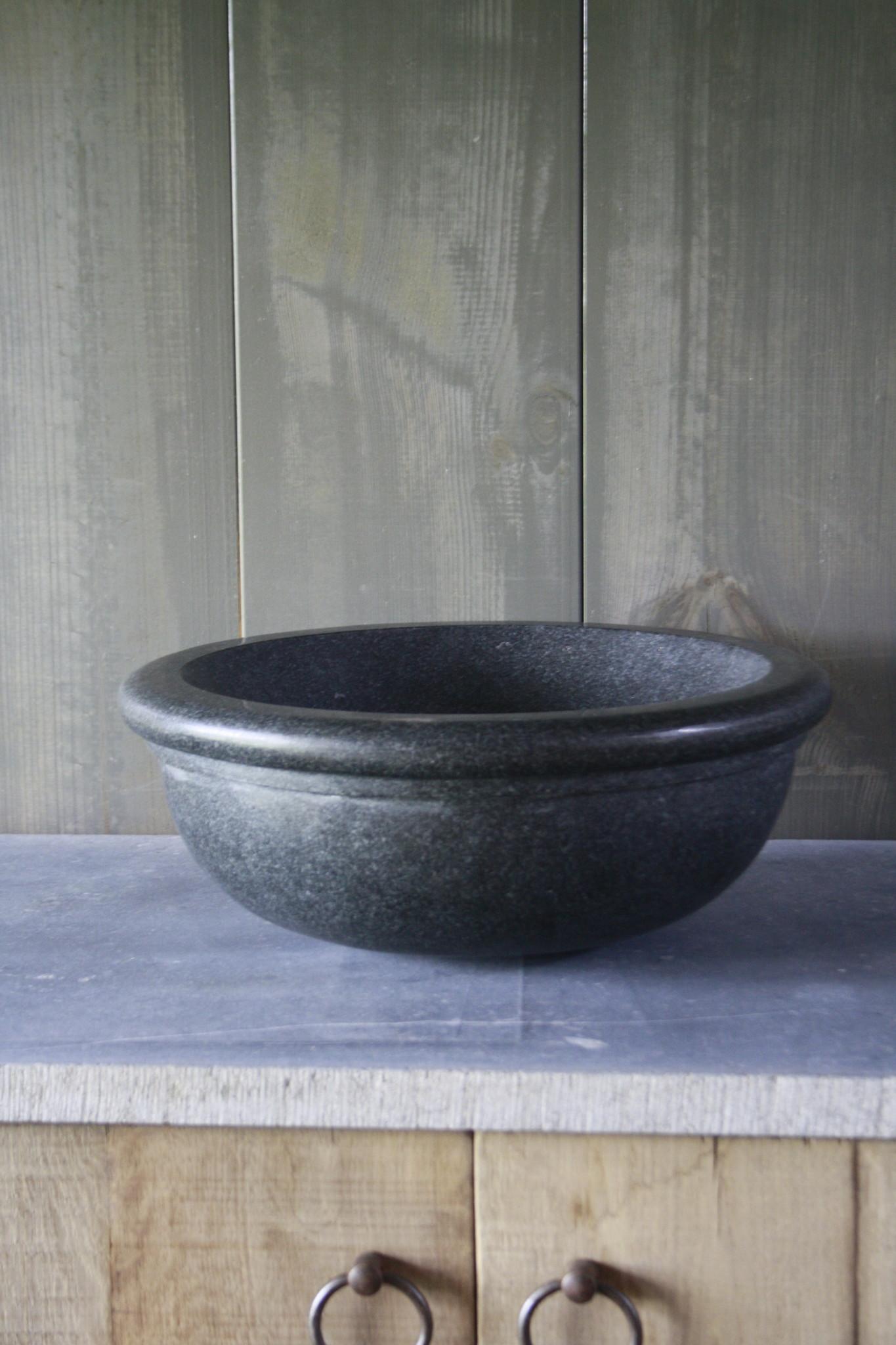 Ronde waskom graniet 40 x 15 cm-2