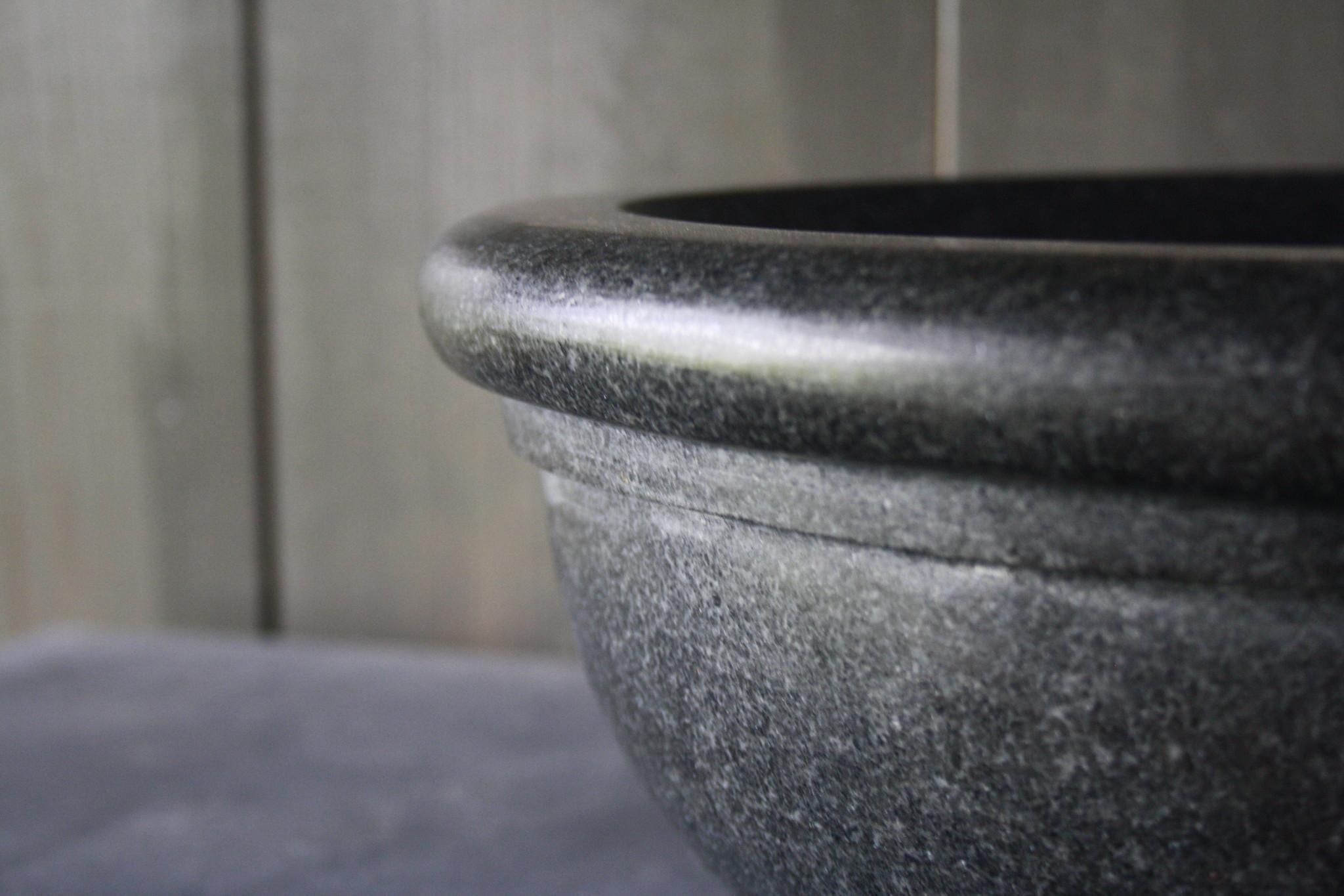 Ronde waskom graniet 40 x 15 cm-4