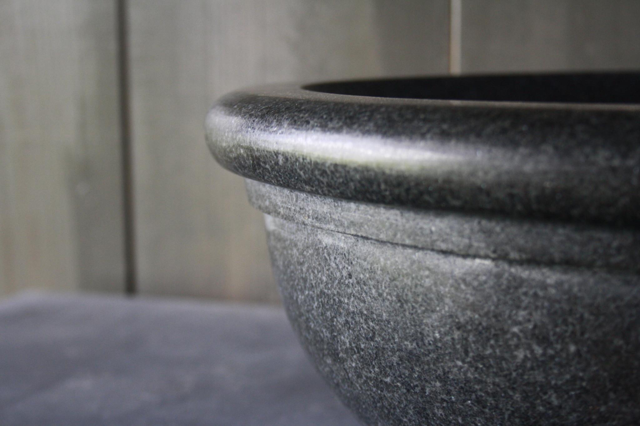 Ronde waskom graniet 40 x 15 cm-5
