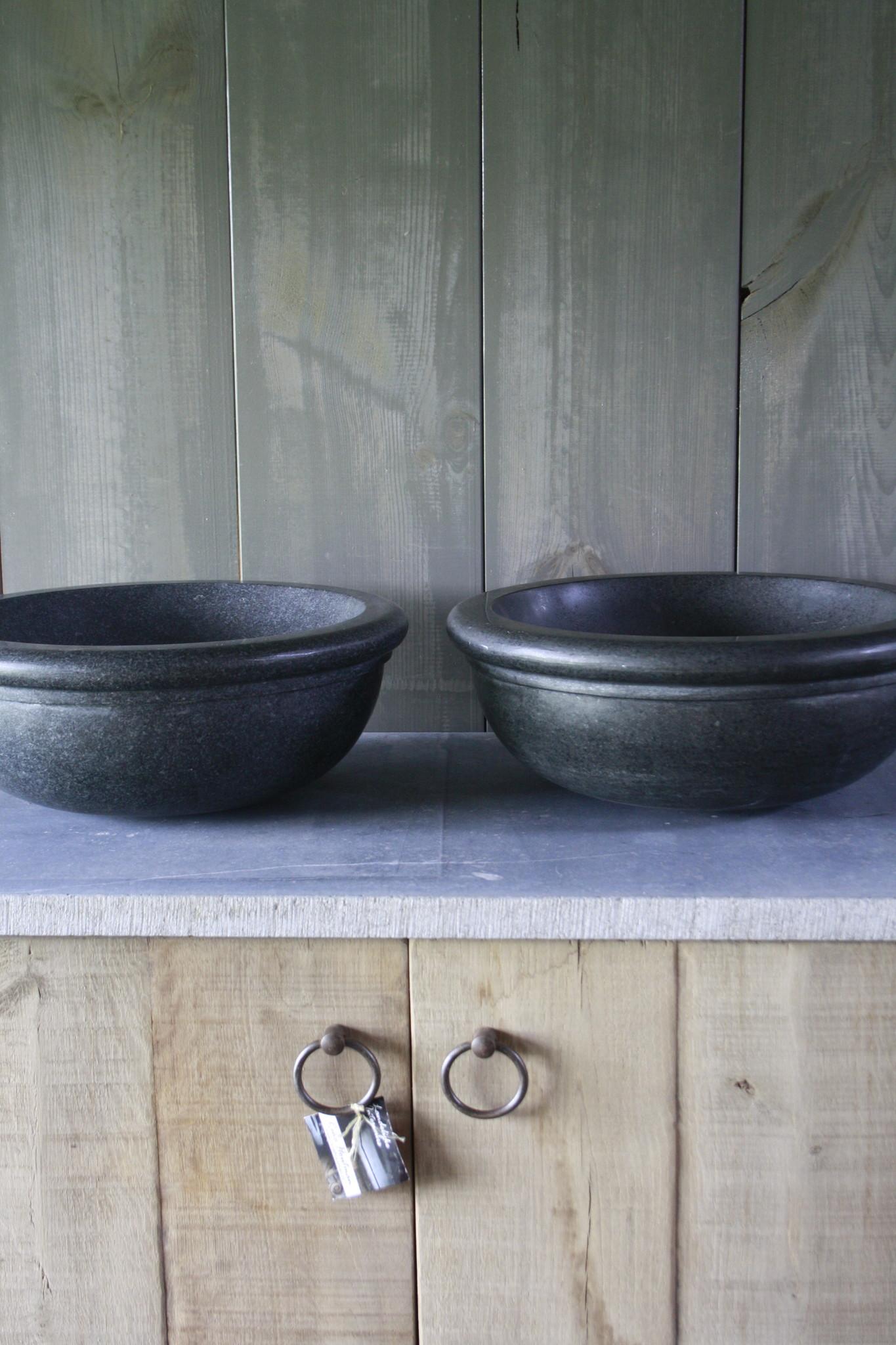 Ronde waskom graniet 40 x 15 cm-6