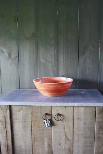 Borchia waskom porselein oranje 40 cm x 15 cm
