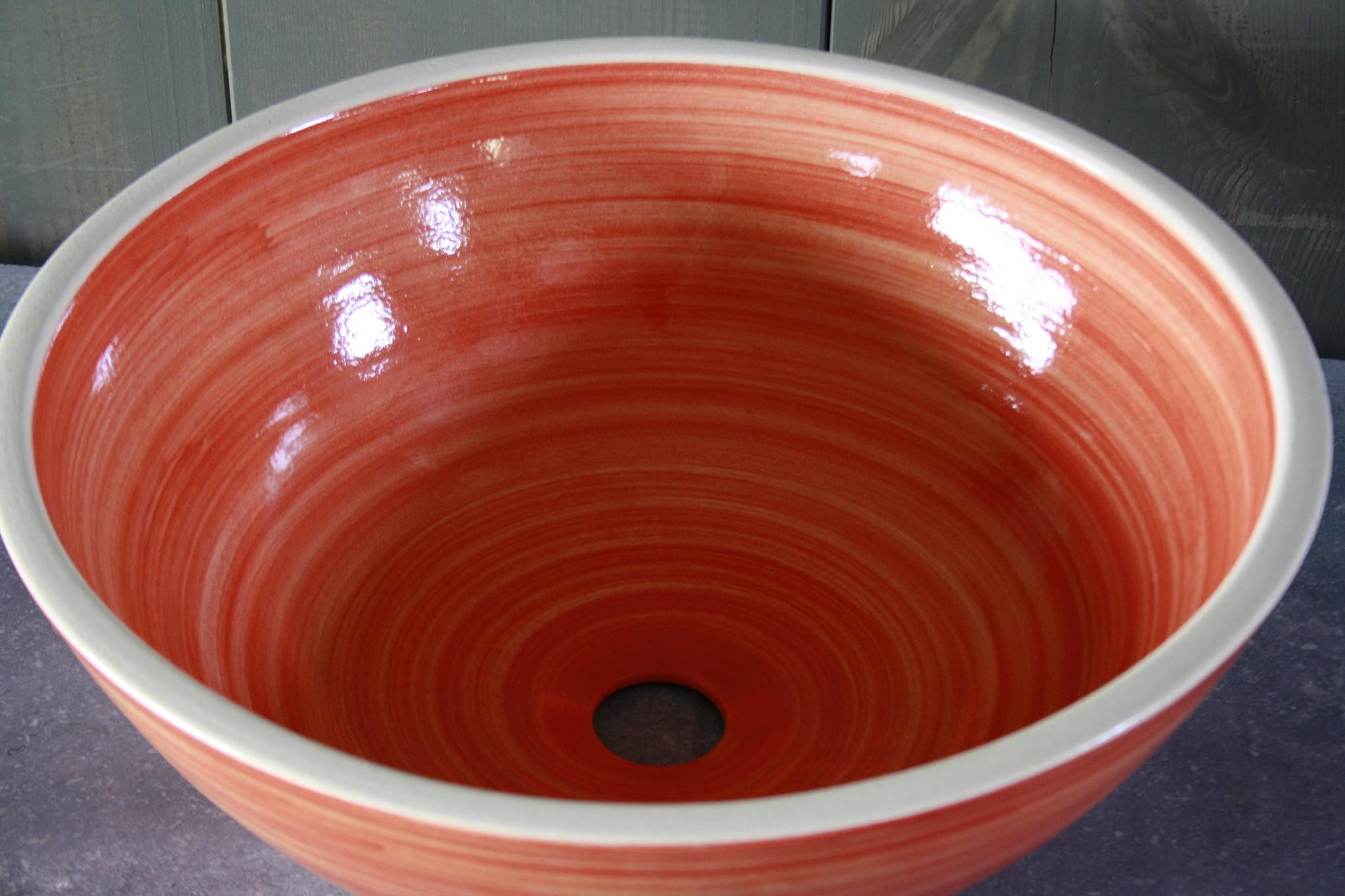 Borchia waskom porselein oranje 40 cm x 15 cm-5