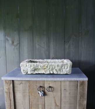 Nature oud wit stenen wasbak 60 cm x 30 cm