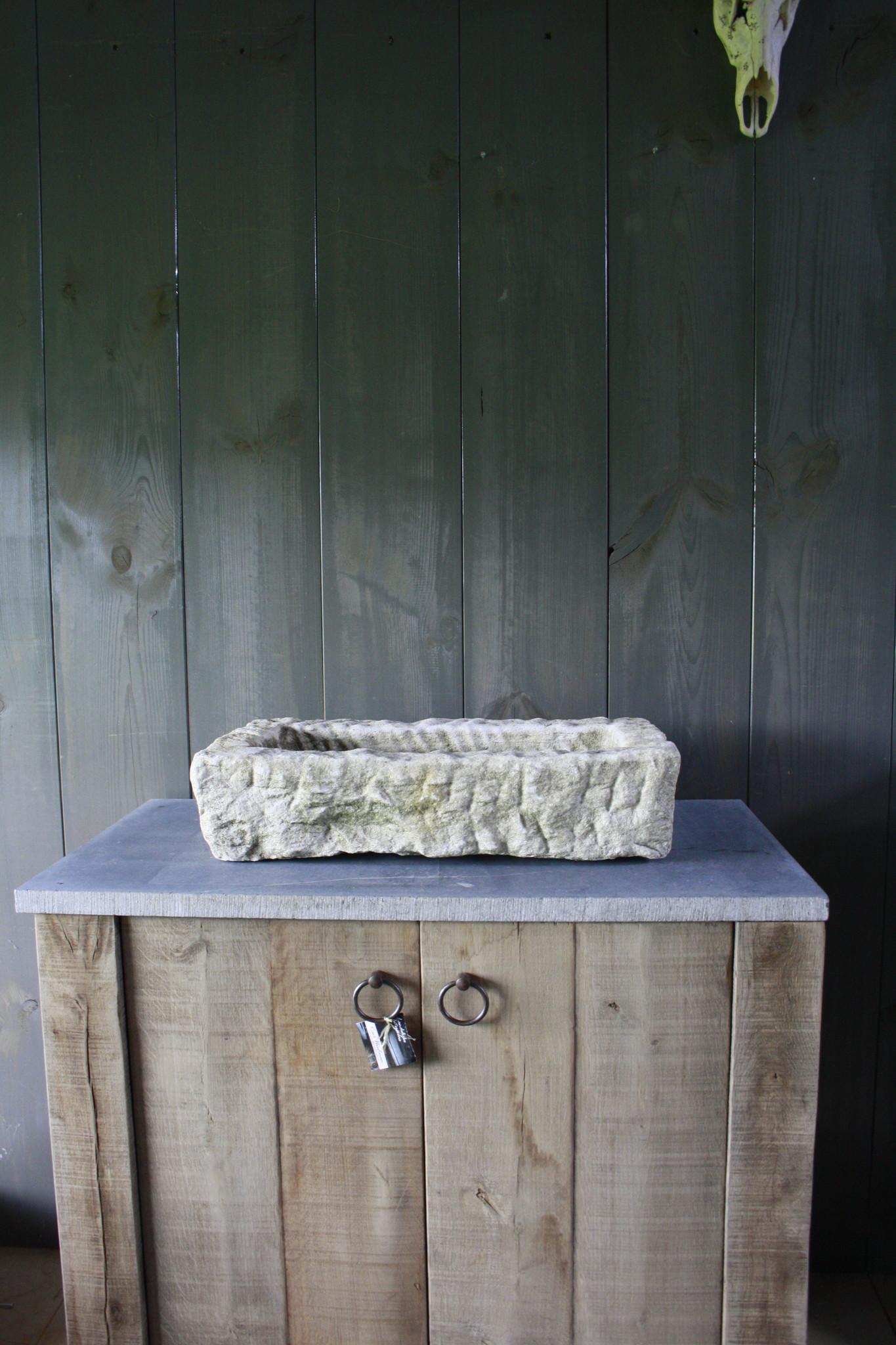 Nature oud wit stenen wasbak 60 cm x 30 cm-1