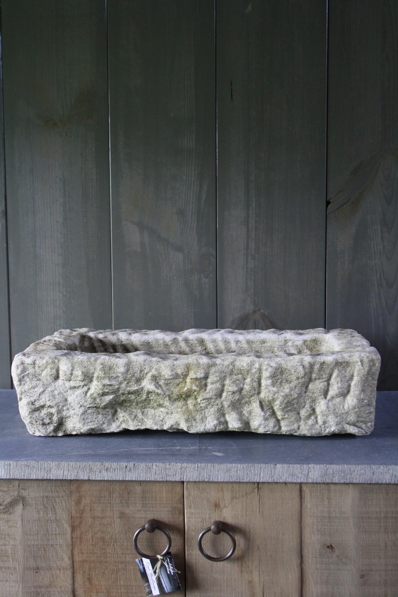 Nature oud wit stenen wasbak 60 cm x 30 cm-2