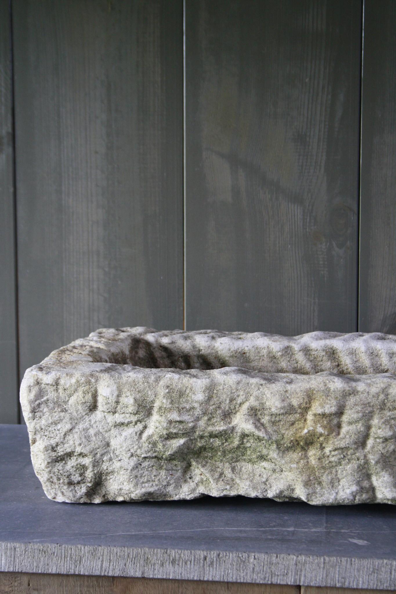 Nature oud wit stenen wasbak 60 cm x 30 cm-3