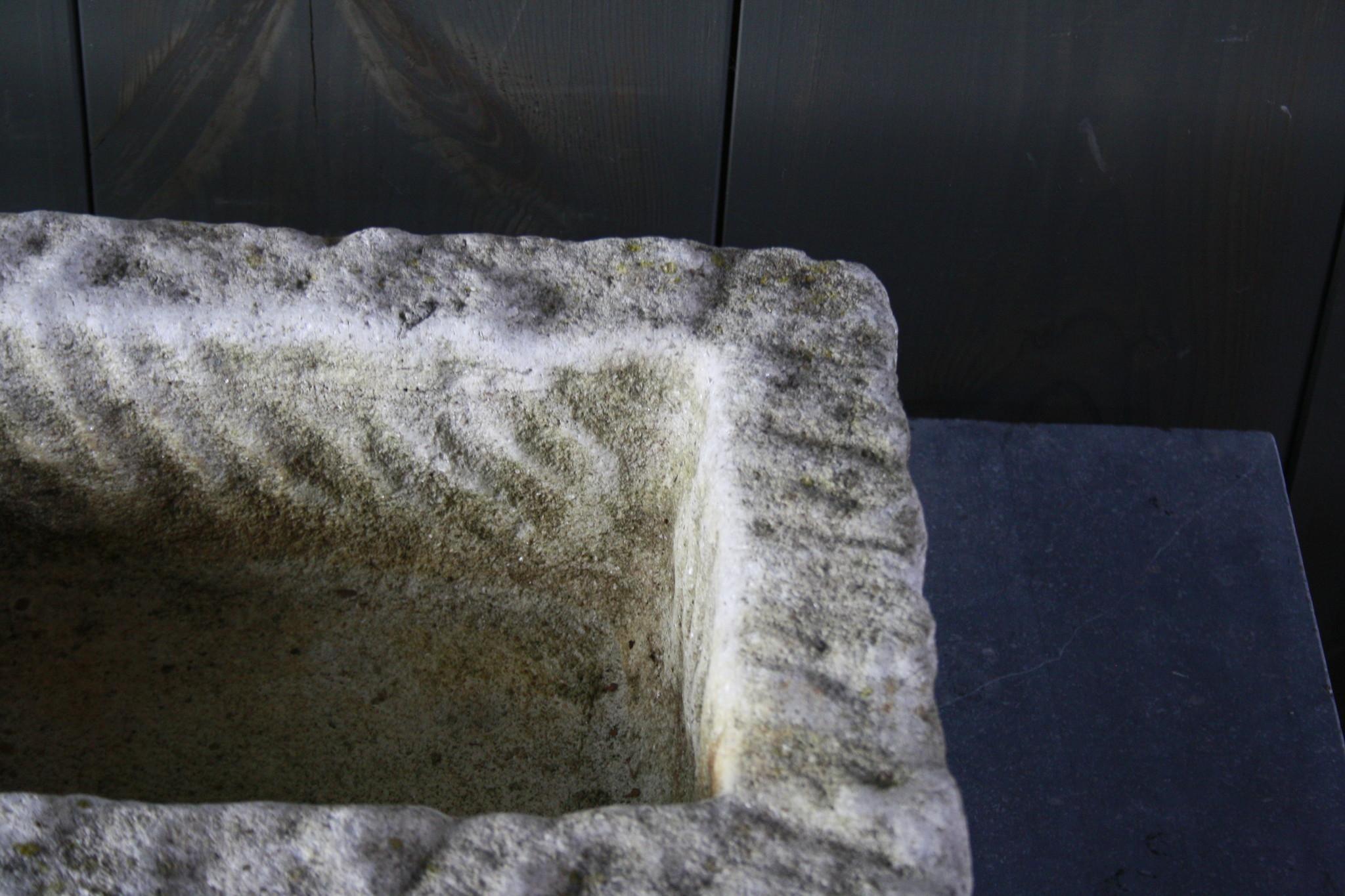 Nature oud wit stenen wasbak 60 cm x 30 cm-5
