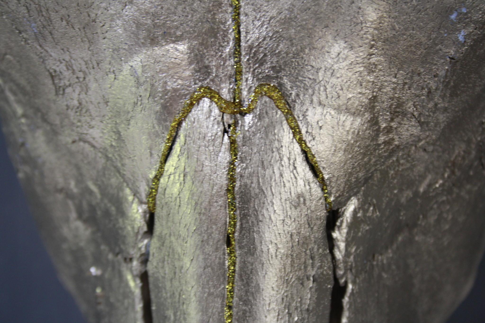 Longhorn Schedel Goud Met Hoorns 63 x 44 cm - Copy-6