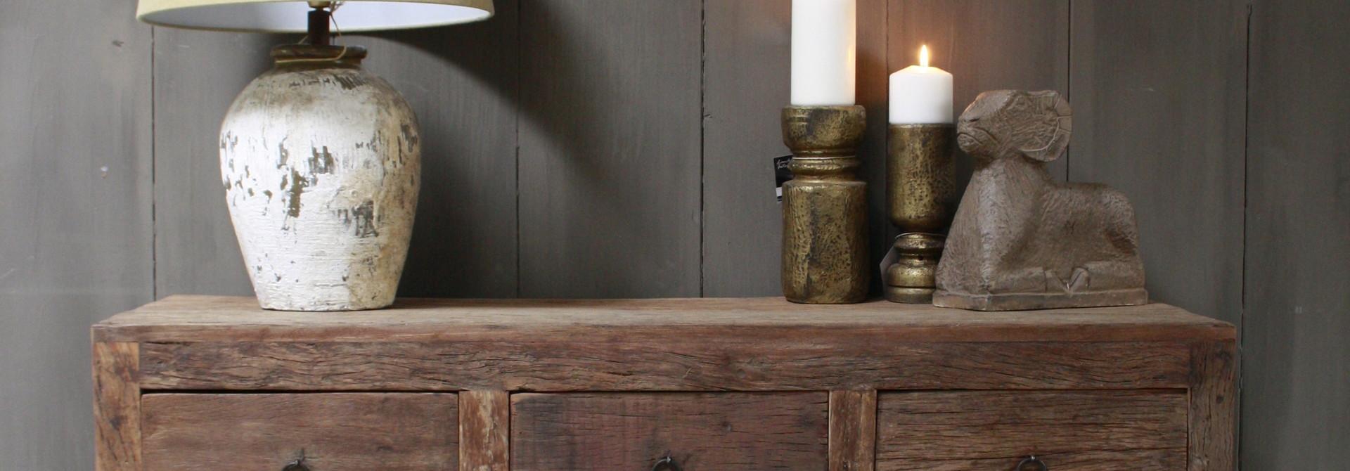 Wandtafel Bassano met lades en legplanken 120 cm