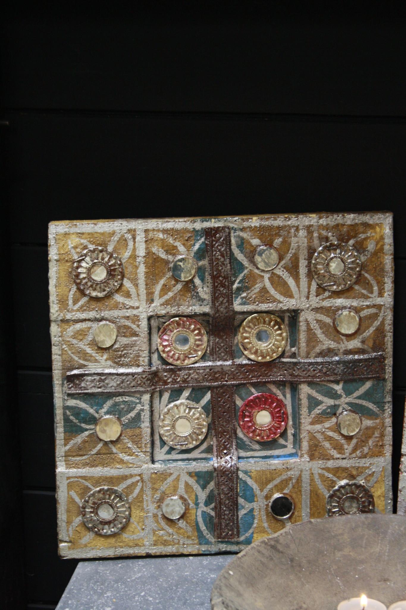 Decoratief wandpaneel Ibiza 30 cm Geel-2