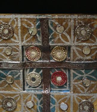 Decoratief wandpaneel Ibiza 30 cm Geel