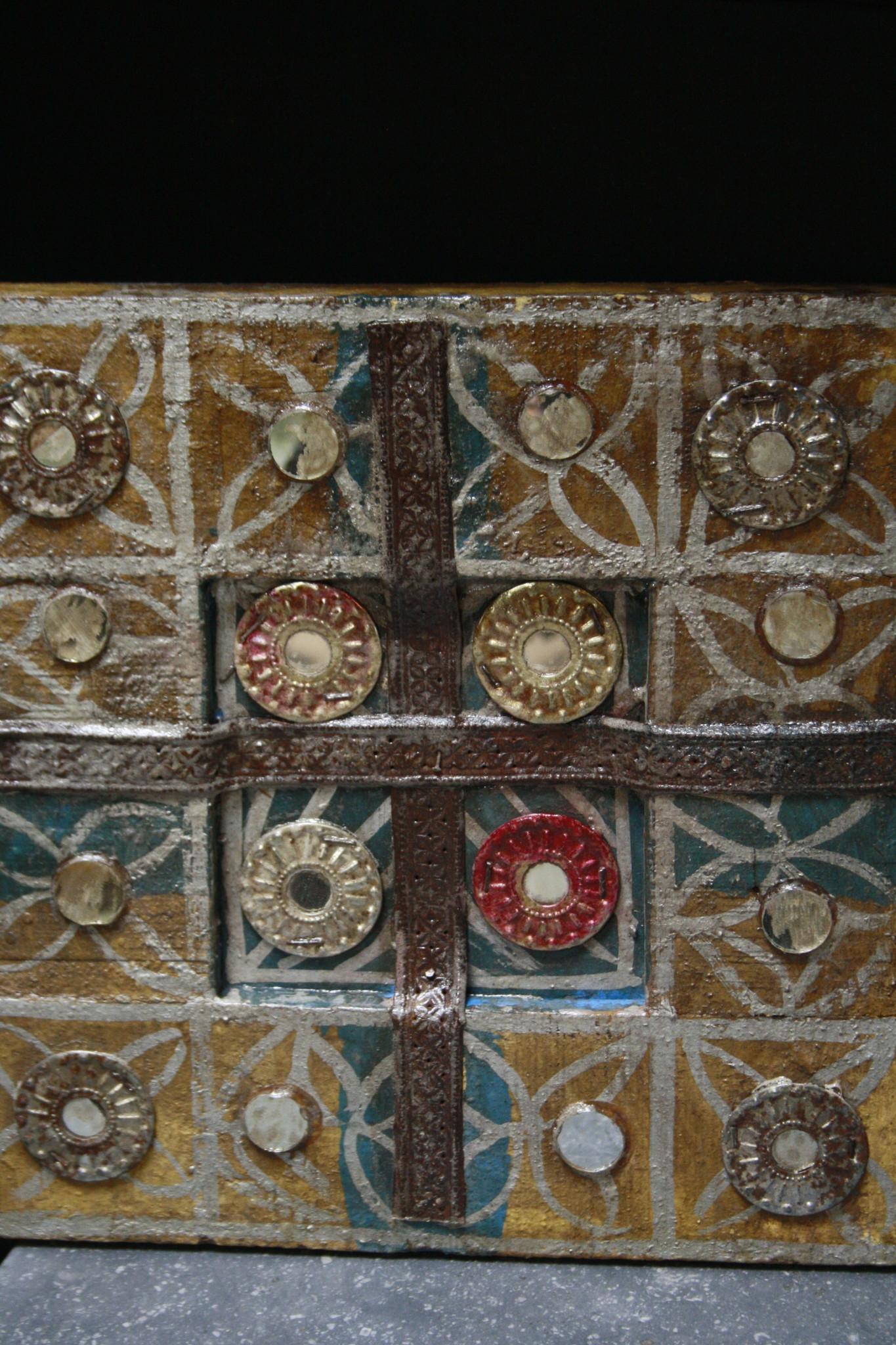 Decoratief wandpaneel Ibiza 30 cm Geel-1