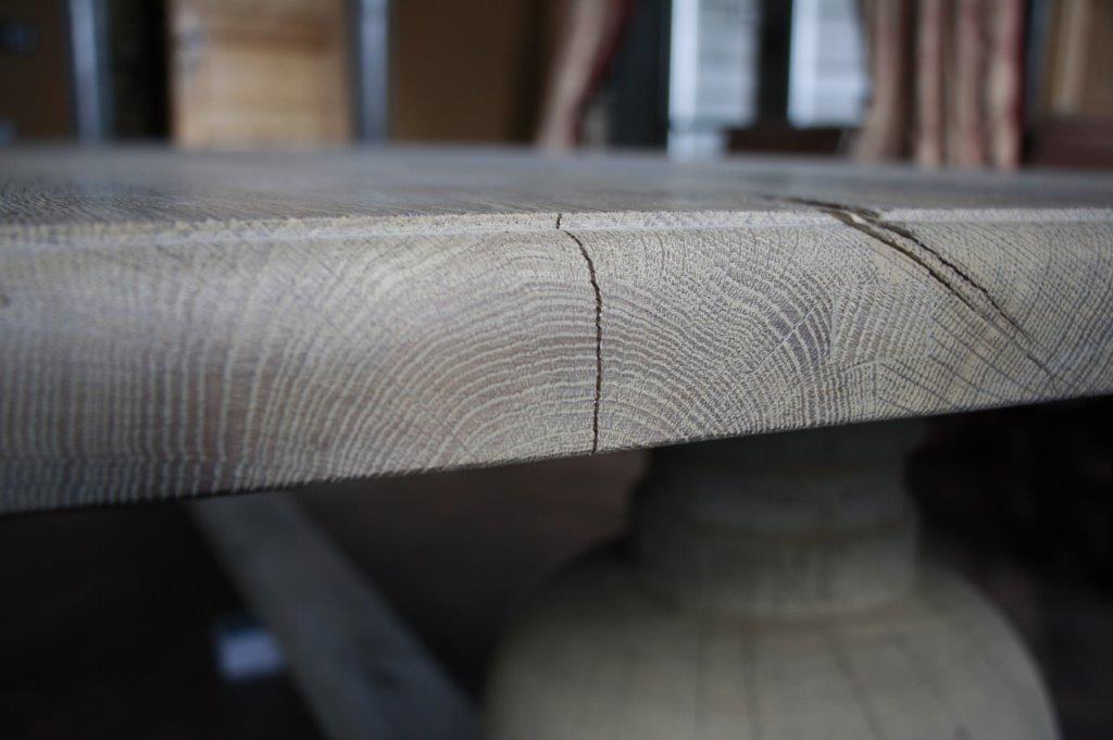 Eettafel oud eikenhout met bolpoot Tense 280 x 90 cm-5