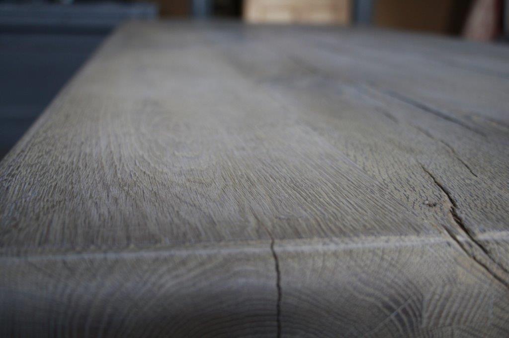 Eettafel oud eikenhout met bolpoot Tense 280 x 90 cm-8