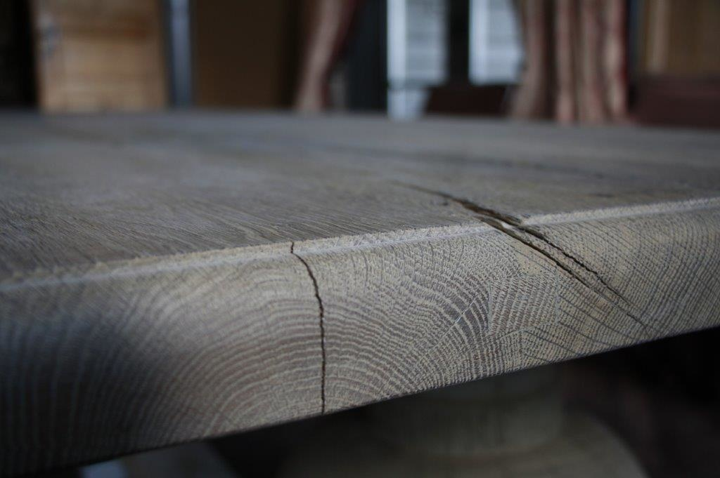Eettafel oud eikenhout met bolpoot Tense 280 x 90 cm-9