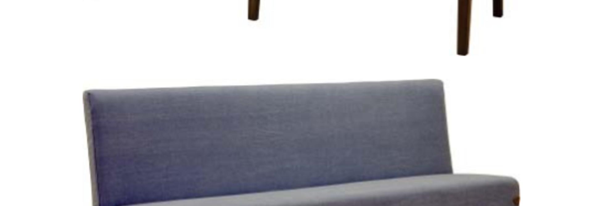 Eva Eetkamerbank Stof Met Detail Leder