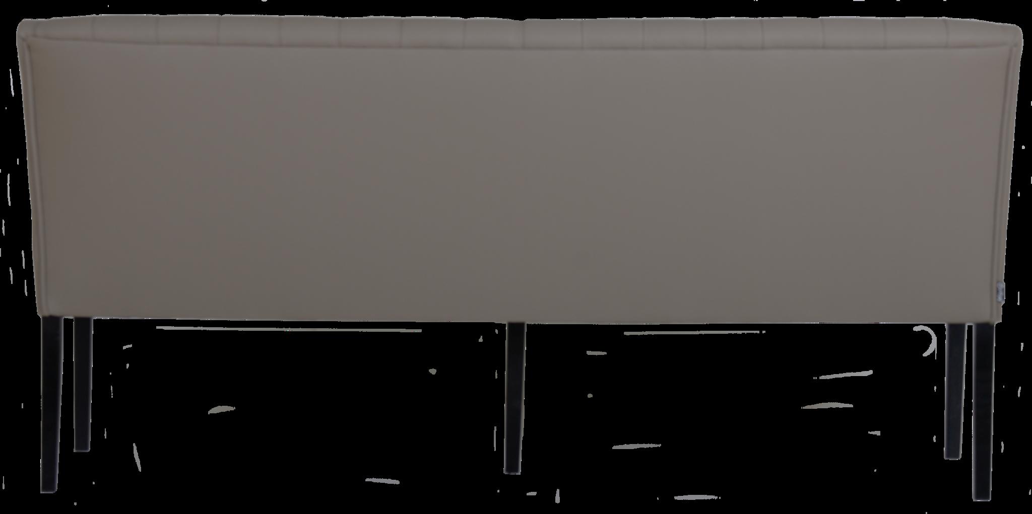 Jolijn Eetkamerbank Capiton Leer Grey-4