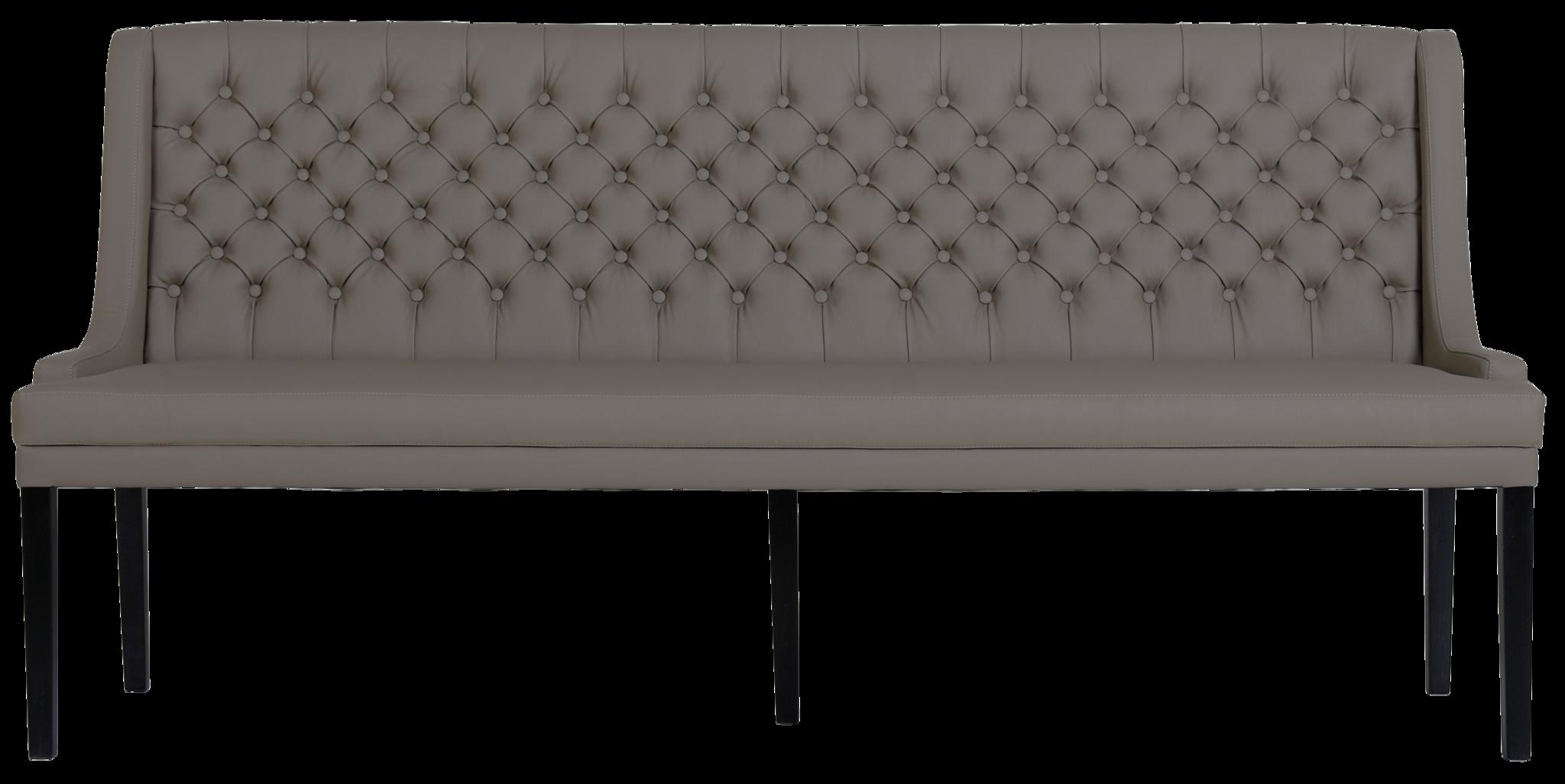 Jolijn Eetkamerbank Capiton Leer Grey-3