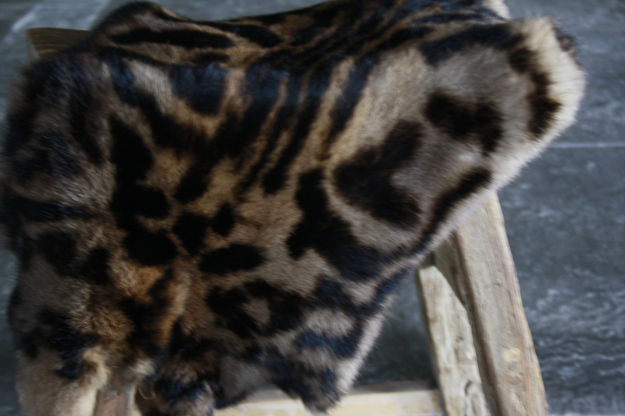 Konijnenvacht Panter Dark Decoratievacht-3