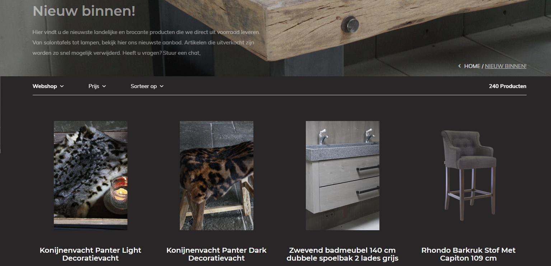 Landelijk Wonen Webshop Rene Houtman Interieurs