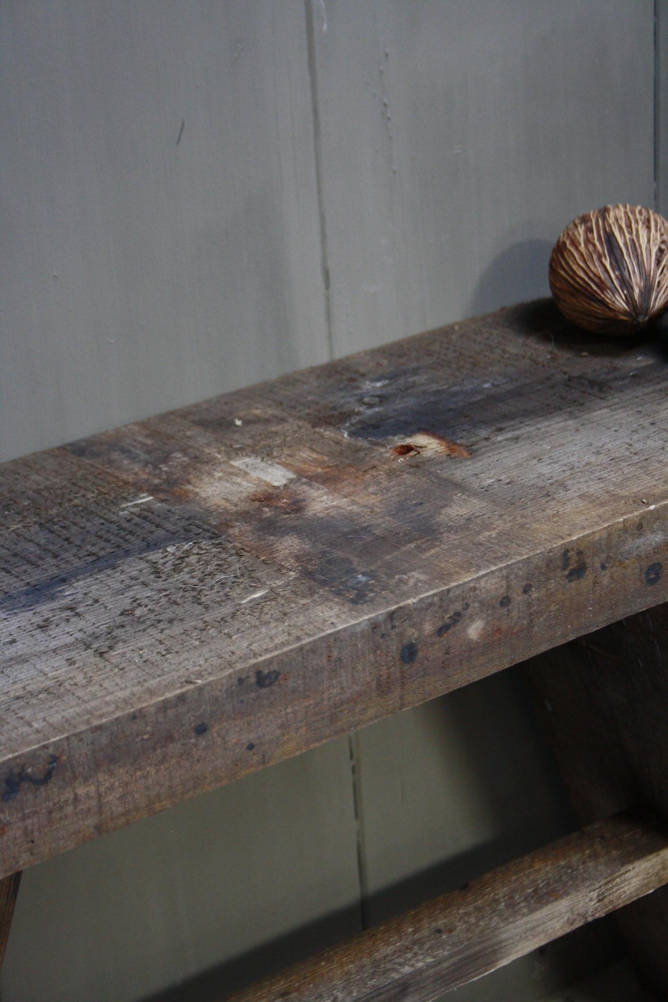 Oud Houten Krukje Ruben 84 cm-5