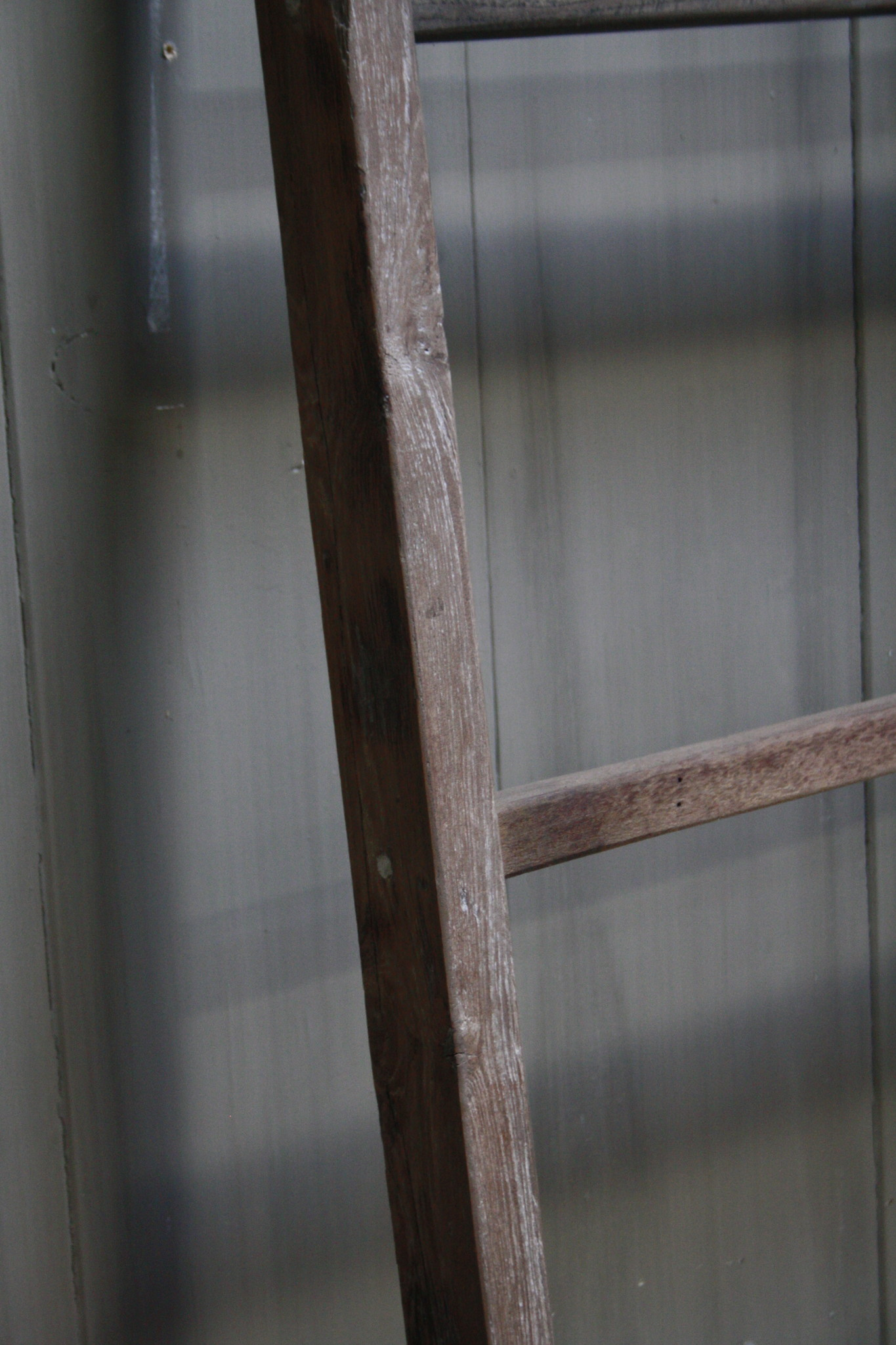 Oud houten ladder 1  Aura Peeperkorn 140 cm-3