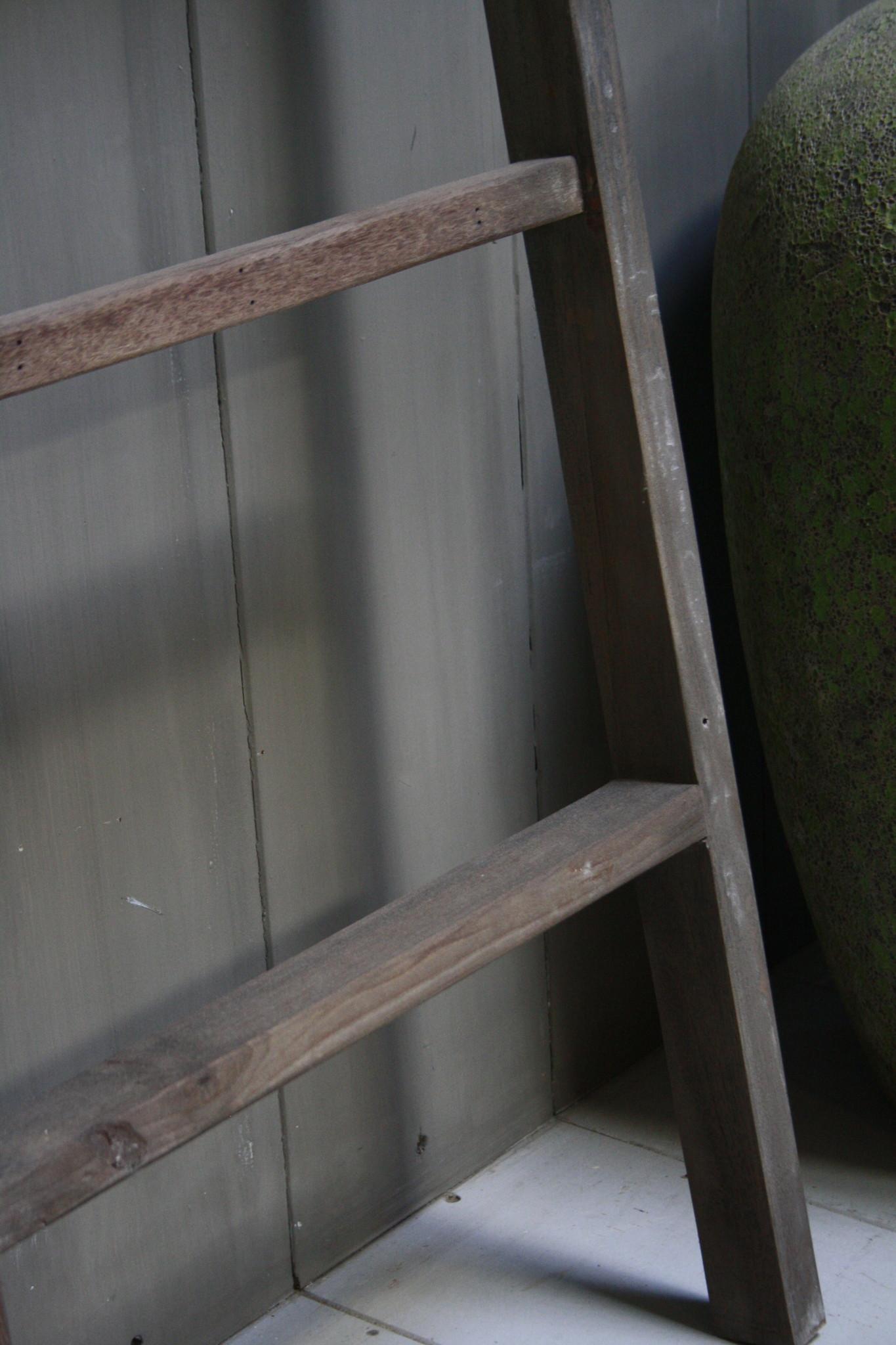Oud houten ladder 1  Aura Peeperkorn 140 cm-4