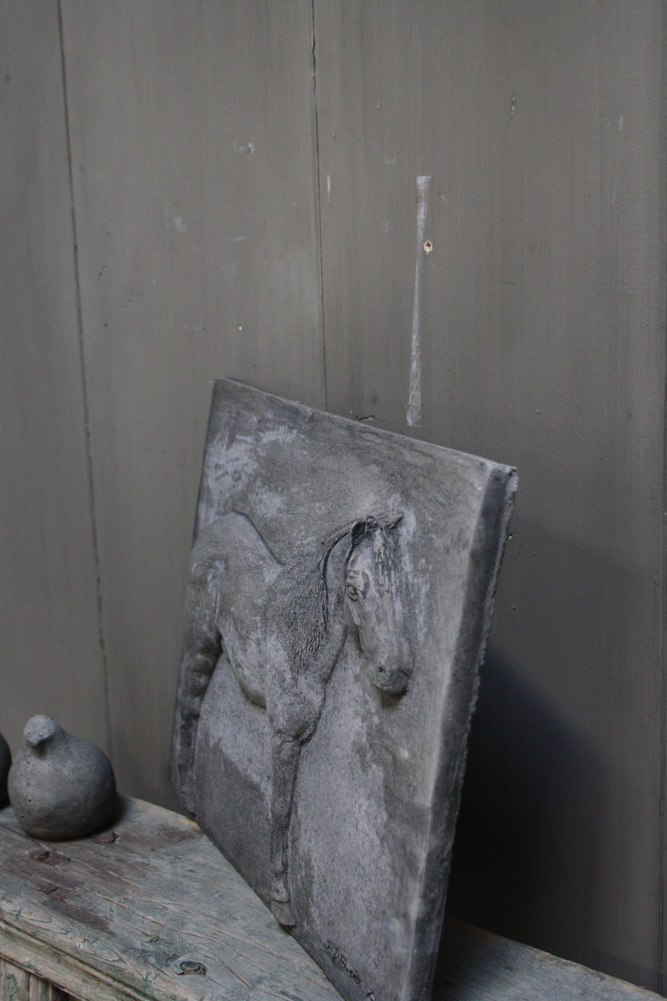 Wandpaneel/lijst Aura Peeperkorn beton met paard 36 cm-3
