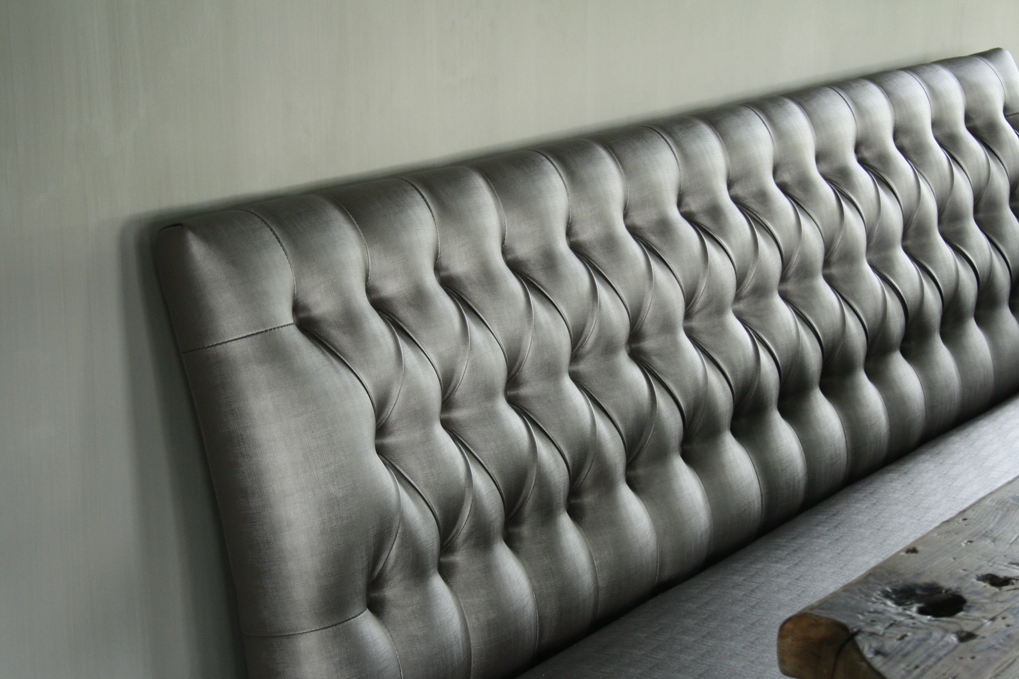 Eetkamerbank Anouk verona silver Capiton 180 cm-2