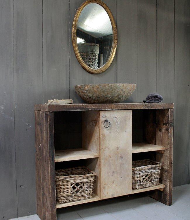 Rene Houtman Oud houten badkamermeubel/Sidetable Kelsey 110 cm