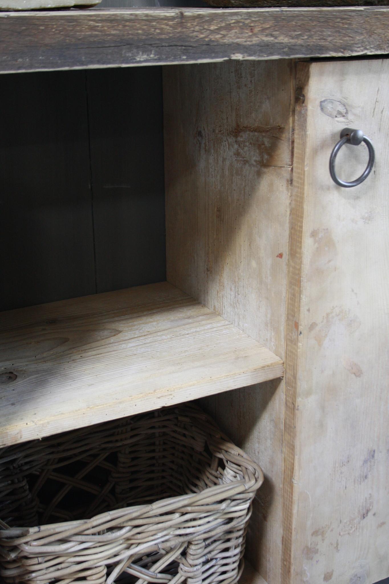 Oud houten badkamermeubel/Sidetable Kelsey 110 cm-8
