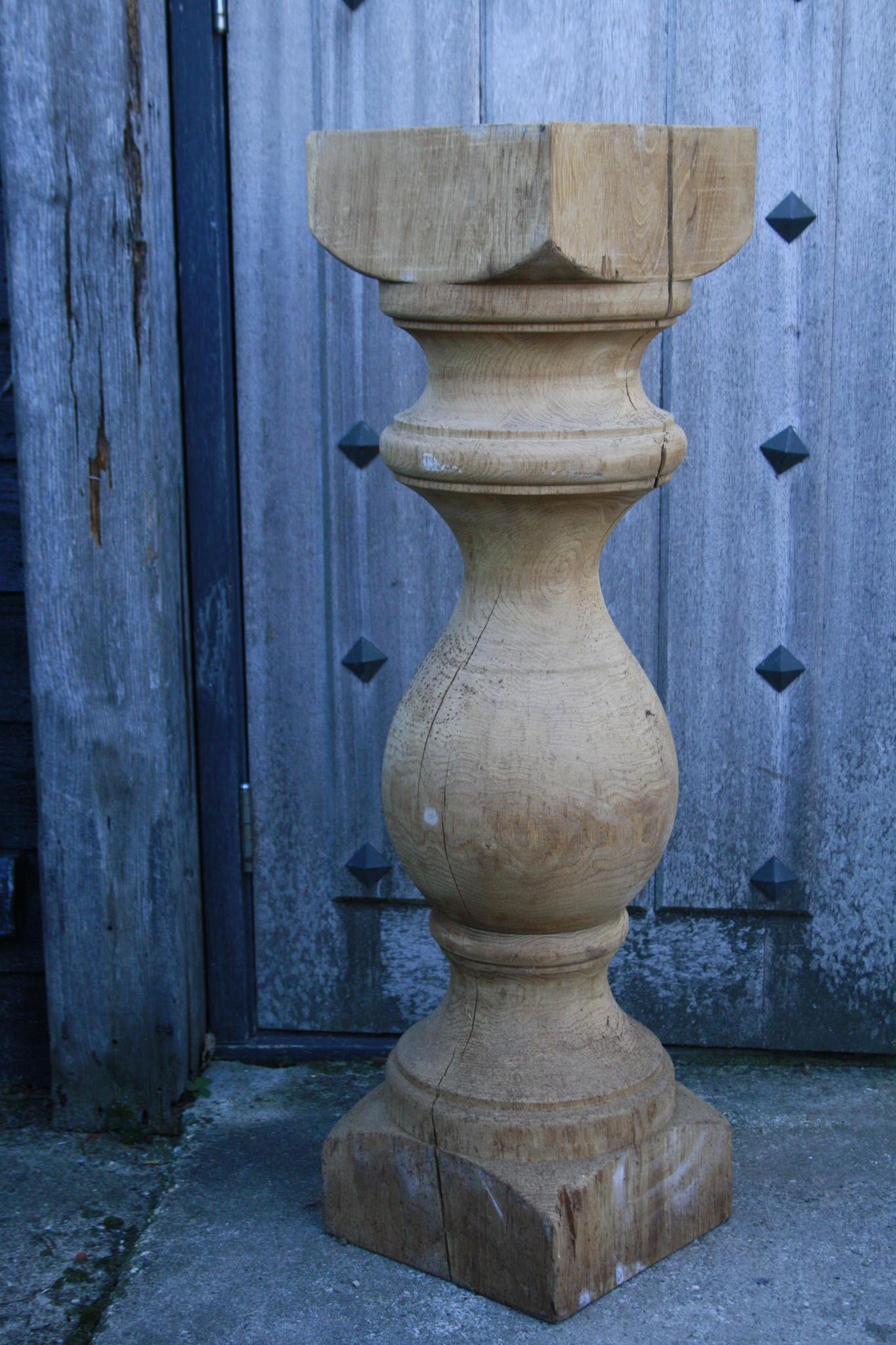 Baluster Lampenvoet Eiken 97 cm-2