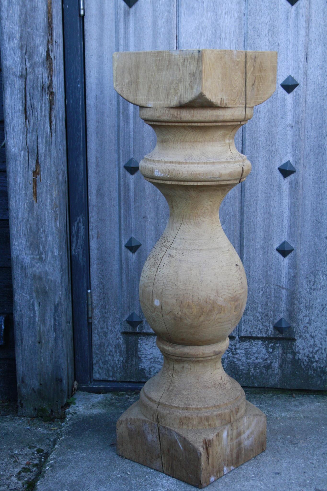 Baluster Lampenvoet Eiken 97 cm-3