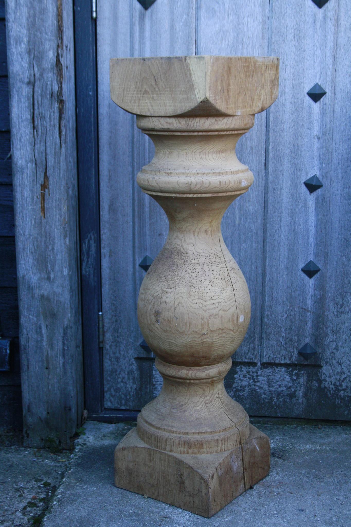 Baluster Lampenvoet Eiken 97 cm-1