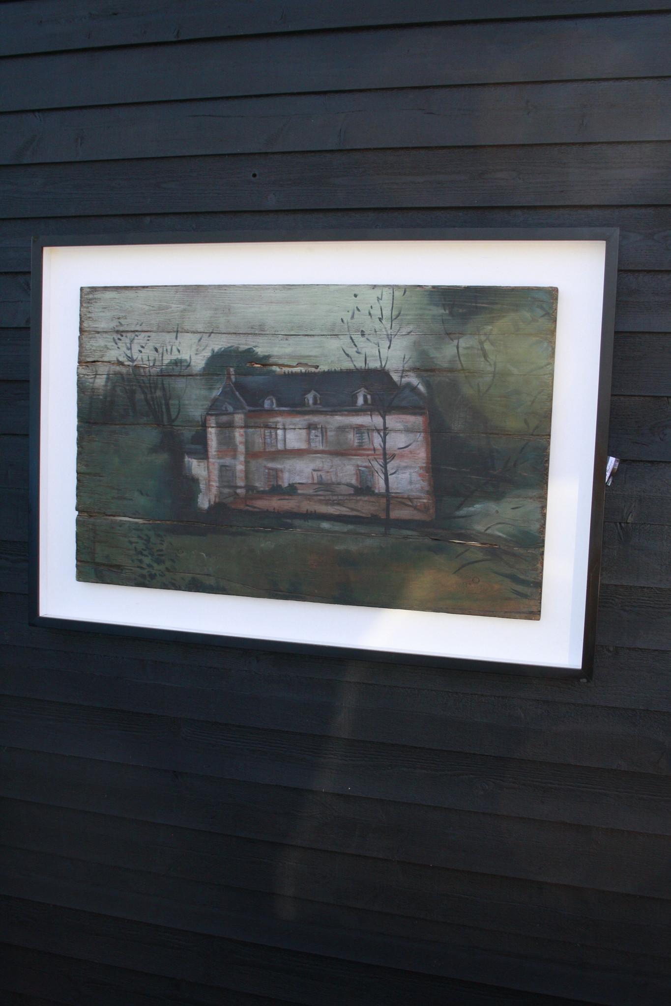 Ralph Lauren Home Schilderij Hout Huis 134 cm-1