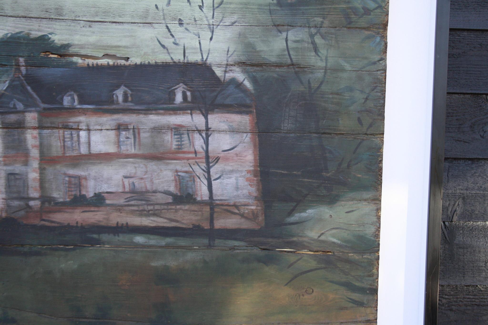 Ralph Lauren Home Schilderij Hout Huis 134 cm-4