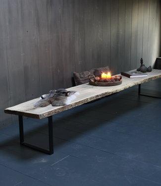 Oud eikenhouten salontafel 250 cm