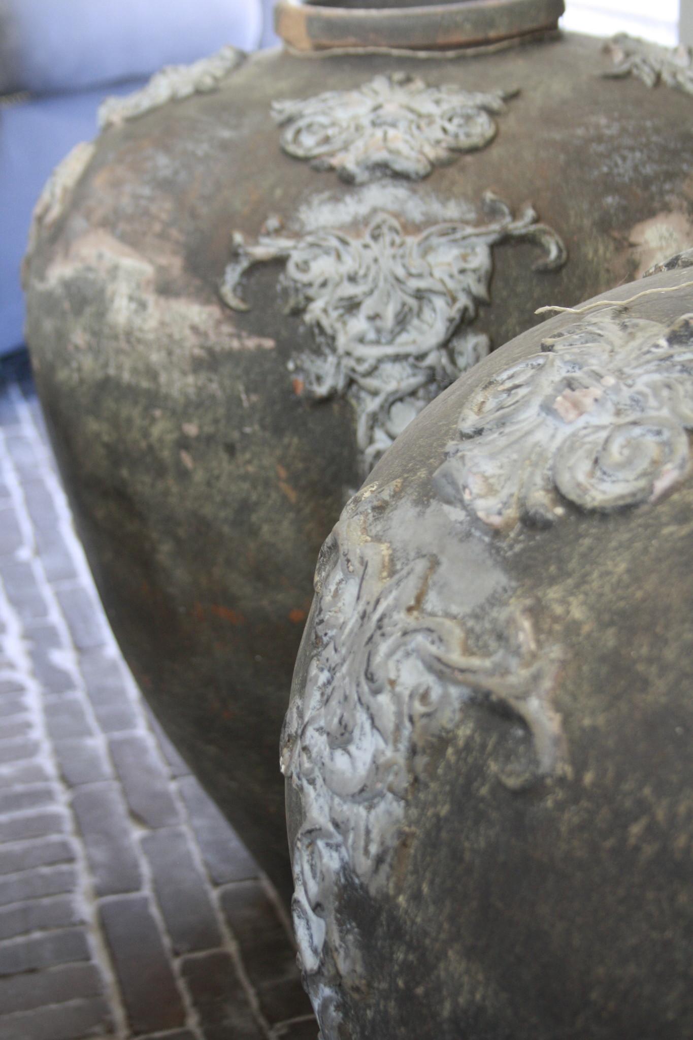 PTMD set potten/vazen steen grafeer grijs 75 x 63 cm-4