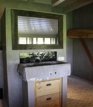 Rene Houtman Spiegel 110 cm oud eiken wagondelen massief