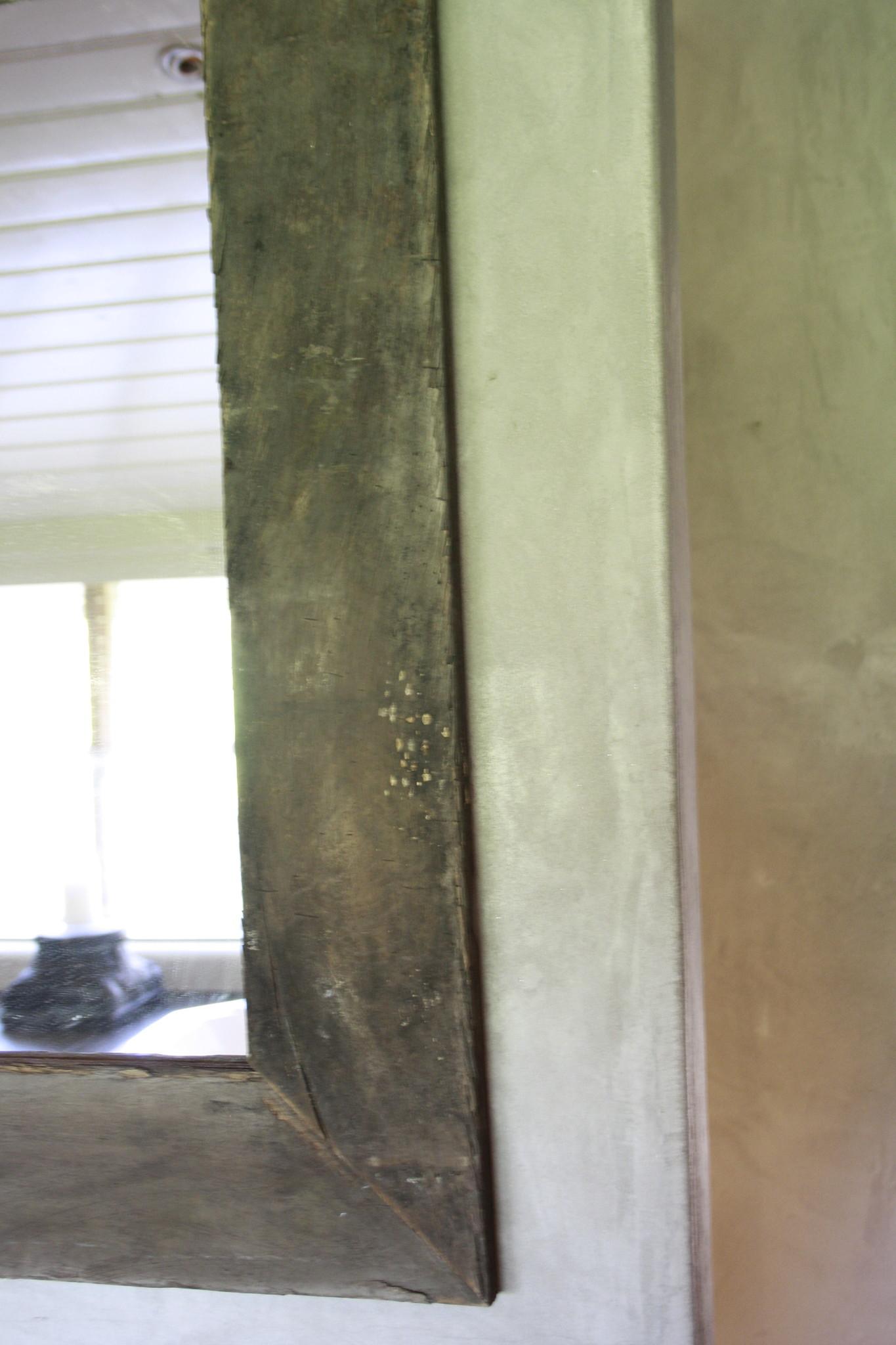 Spiegel 110 cm oud eiken wagondelen massief-4