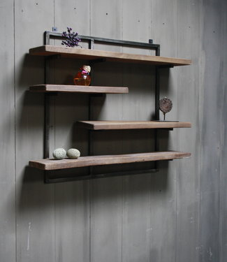Rene Houtman Woody metaal wandrek 4 planken 82 x 100 cm