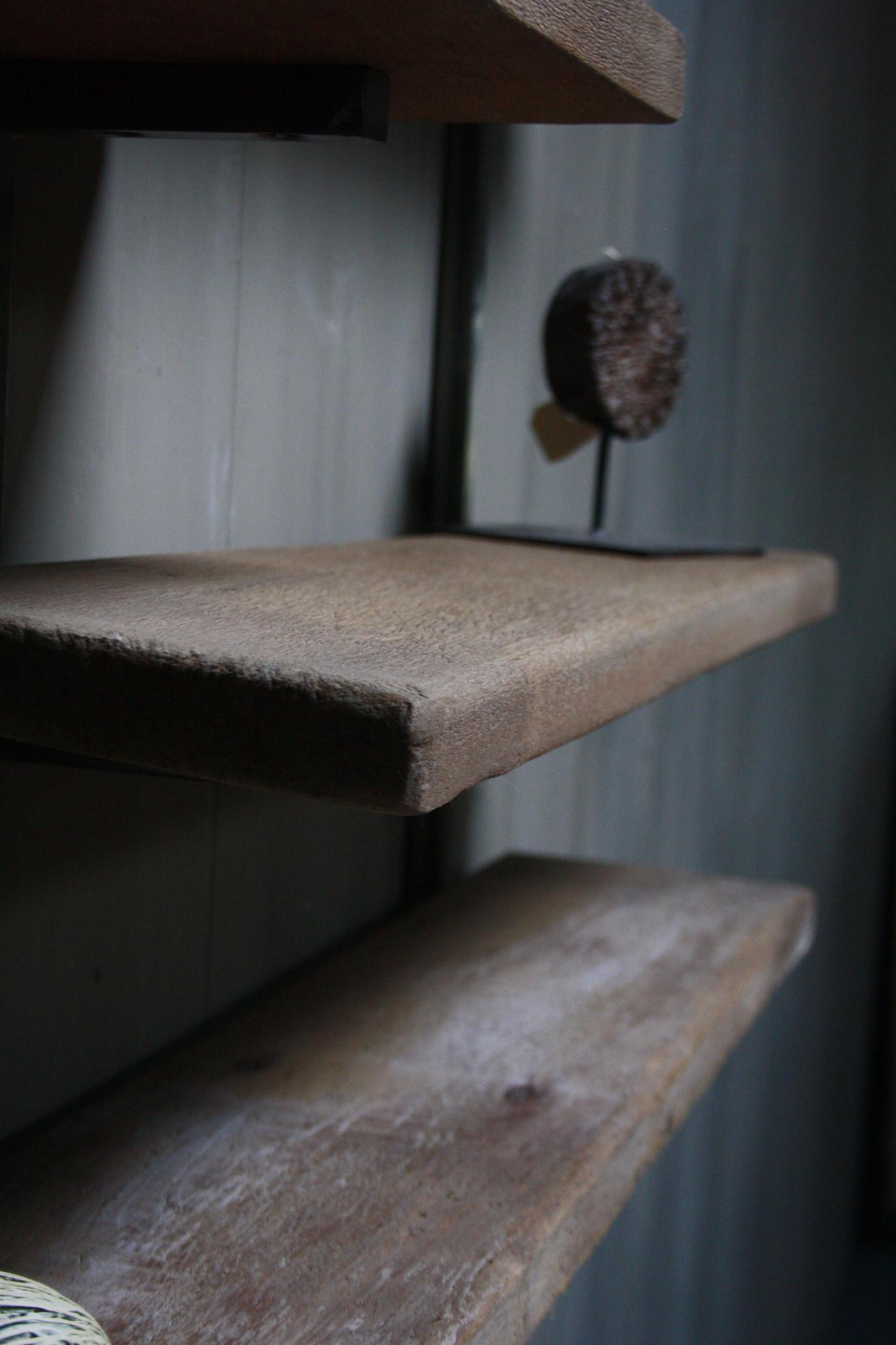 Woody metaal wandrek 4 planken 82 x 100 cm-5